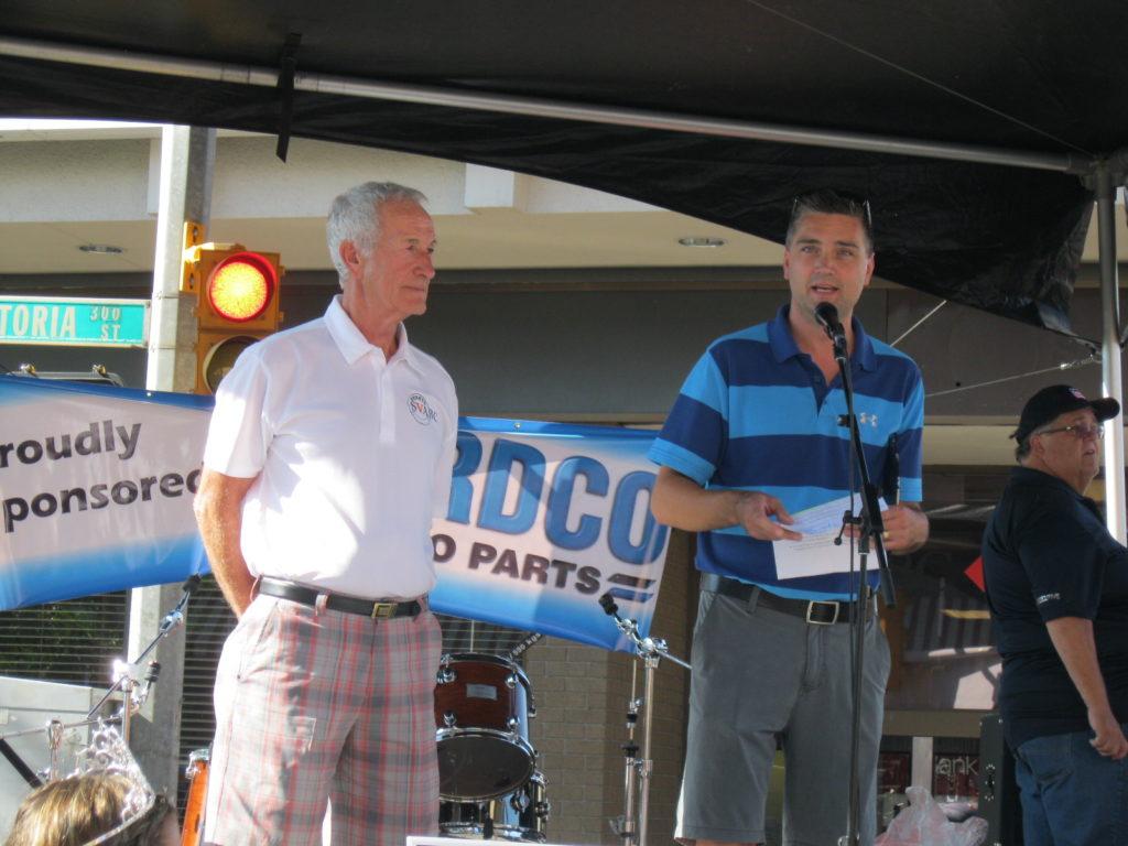 Right Minister Todd Stone Left SVABC Director Bob Kelly